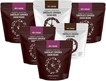 6-Pk. ChocoVivo Chocolate Covered Cacao Beans & Nibs Sampler