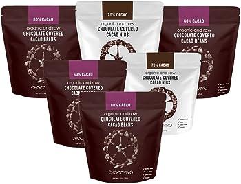 6-Pk. ChocoVivo Chocolate Covered Cacao Beans & Nibs Sampler