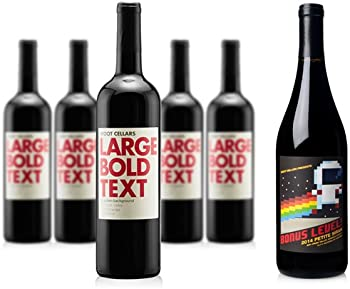 5-Pack Large Bold Text Dry Creek + 1-Pack Petite Sirah Wine
