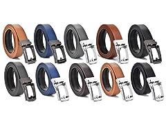 2 & 3 Pack Men's Ratchet Leather Belt