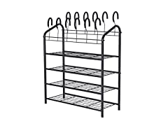 JS Home 4-Tier Shoe Rack
