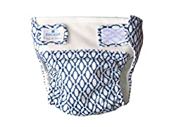 2-Piece Navy Tile Reusable Diaper Set