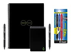 Rocketbook Smart Notebook and Mini w/ 5 Pens