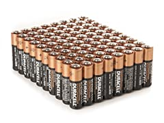 Duracell AA Alkaline Batteries - 80 Pack