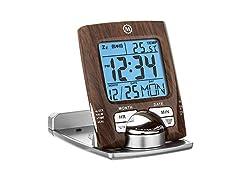 Marathon CL030023WD Travel Alarm Clock