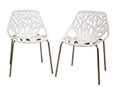 Birch Sapling White Chair 2-PC
