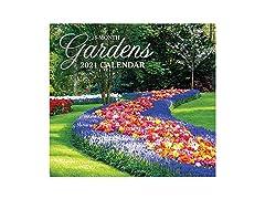 2021 Full-Size Wall Calendar Gardens