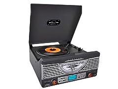 Retro Turntable with AUX/Radio/USB/SD/MP3