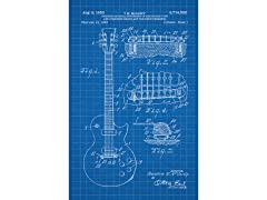 Les Paul Guitar Screen Print