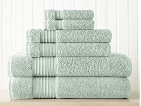 6-Piece 100% Turkish Cotton 700GSM Towel Set