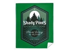 """Shady Pines Retirement Camp"" Mink Fleece Blanket"