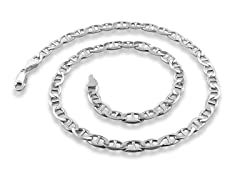 Italian Sterling Silver Gucci Chain