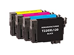Remanufactured Epson T220XLBK & T220XLCMY