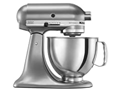 KitchenAid 5-Quart Tilt-Head Stand Mixer, Contour Silver