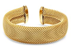 18kt Plated Adjustable Mesh Cuff