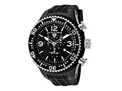 Men's Neptune Chronograph, Black / White