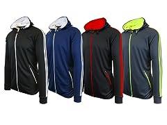 Mens 2PK ASST Hooded Track Sweatshirt