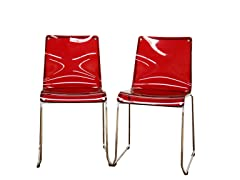 Lino Transparent Dining Chairs Set of 2