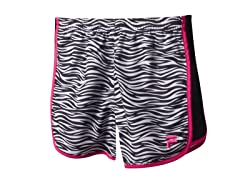 Girls Printed Primo Short - Black Zebra