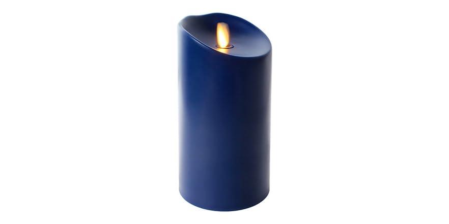 "7"" Indoor/Outdoor Flameless Candle - Navy Blue"