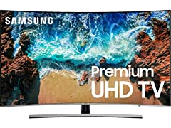 "Samsung 55"" NU8500 Premium Curved Smart 4K UHD TV"