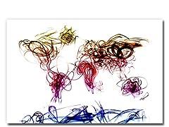 Light Writing World Map 18x24 Canvas