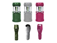 Bell & Howell Ultra-Bright LED Taclight Flashlight & Lantern Bundle