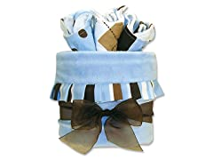 Max Stripe 4-Pc Blanket & Bib Gift Cake