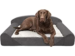 Furhaven Luxury Bolster Sofa Pet Bed