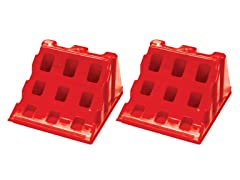 Red Lynx Wheel Chocks, 2- Pack