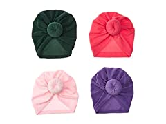 YASSUN Baby Cotton Hat Headband 4 Piece