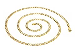 14K Gold Cuban Pave Chain Necklace