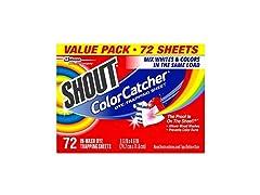 Shout ShoutColor Catcher Dye Trapping Sheets, 72.0 Coun