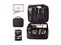 Rownyeon Makeup Cosmetic Case Mini Black