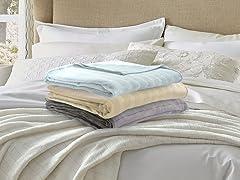 Serta Damask Stripe Blanket