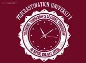 Procrastination University