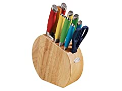 Fiesta 11-Piece Multi-Color Cutlery Block Set
