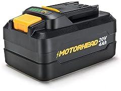 MOTORHEAD Lithium-Ion 4.0Ah High-Capacity Battery