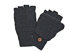 MUK LUKS® Men's Flip Mittens, Grey