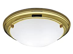 2-Light Flushmount, Brass