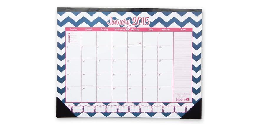 Calendar Notebook 2015 : Chevron desk calendar planner notebook set