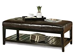 Chloe Bicast Tufted Coffee Table