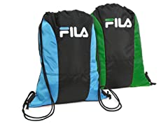 Blue & Green X4 Sackpacks (2-Pack)
