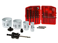 Black Oxide Drill Bit & Hole Saw Bundle