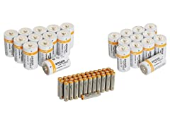 AmazonBasics Alkaline Batteries (Your Choice)