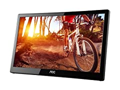 "AOC E1659FWU 16"" Portable LED Monitor"