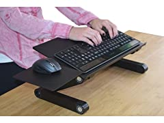 Uncaged Ergonomics Adjustable Keyboard Tray Black