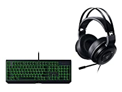 Razer BlackWidow Keyboard, Thresher Headset Bundle