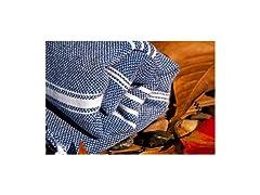 Silk&Cotton Dark Blue Cotton Towel