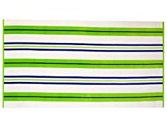 450GSM 36x70 Green & Blue Stripe Towel